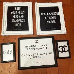 Other - Black and white wall hangings / picture frames